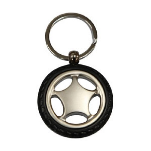 WHEEL SHAPE KEY RING  -  Includes laser engraving logo