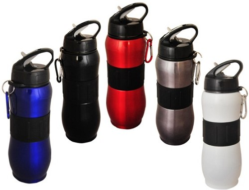 Sport Drink Bottle with Carabiner-BPA Free -  Includes laser engraving logo