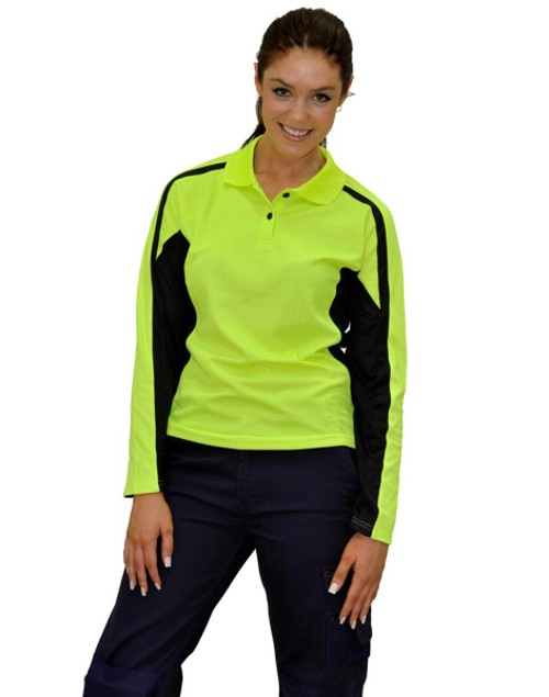 Ladies' Truedry L/S Safety Polo