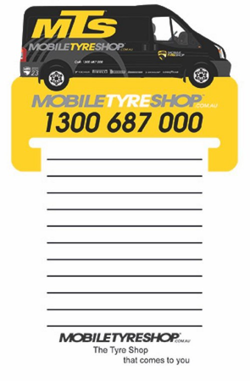 Van Shape Magnet 95 x 70 mm, Notepad (black)70 x 95 mm